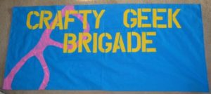 Kimberly Cummins, Rouses Point Graphic Designer Freelance Best created the crafty geek brigade banner