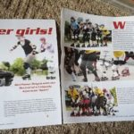 Northern Home, Garden & Leisure magazine coverage of the Plattsburgh Roller Derby Team, The Lumber Jills