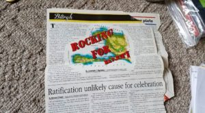 Clipping of The Burgh coverage of Rock for Haiti fundraiser for earthquake recovery dollars