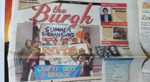 Front page coverage of The Burgh newspaper for the 2011 Cupcake Showdown and Plattsburgh Block Party