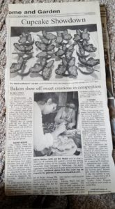 press republican clipping from cupcake showdown featuring image of monarch butterfly cupcakes