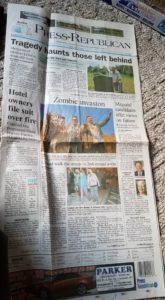 Press republican coverage of 4th annual plattsburgh zombie walk