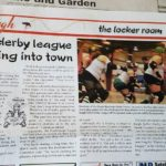 burgh clipping of lumber jills article which quotes kimberly cummins, former team captain and league president