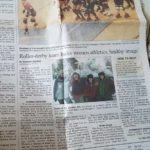 Kimberly Cummins featured with the Lumber Jills in press republican Newspaper clipping