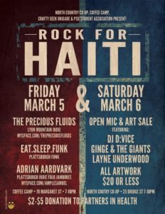 Rock For Haiti Event Poster Rouses Point Social Media Marketing Freelance fundraising event