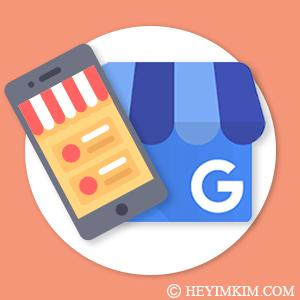 Google My Business logo with image of mobile phone