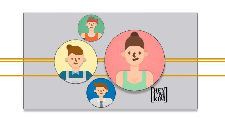 illustrations of four different Client avatars