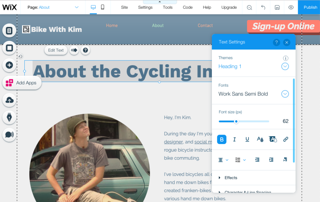 Wix & the Web Design Challenge » Plattsburgh, NY » Hey, I'm Kim