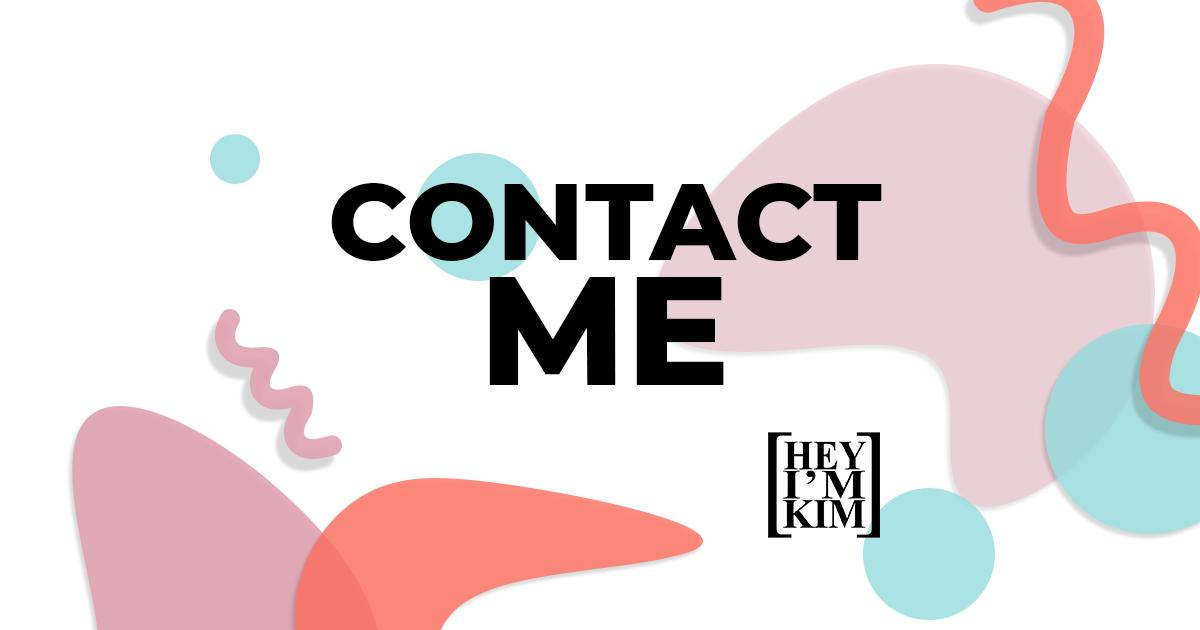 contact me written in sans serif font over colorful abstract background