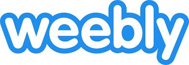 blue and white weebly website design platform logo