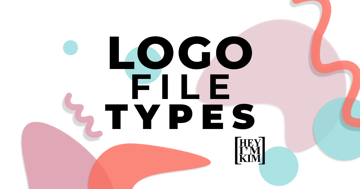 Logo File Type written over colorful abstract shapes