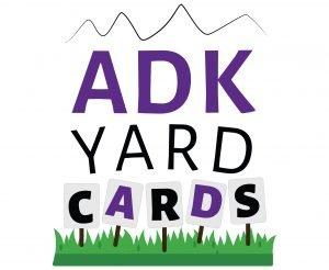 Logo Design Adirondack mountains above writing ADK YARD Card
